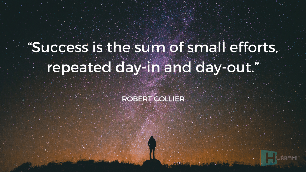 "Sales Motivational Quote: ""Success is the sum of small efforts, repeated day-in and day-out."" — Robert Collier."