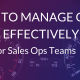 Sales ops tips for data management