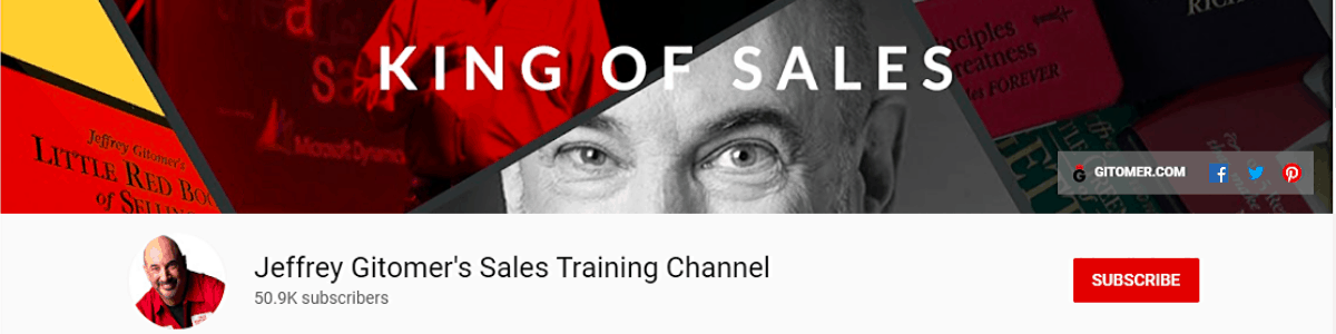 Jeffrey Gitomer's Sales Training Channel for sales