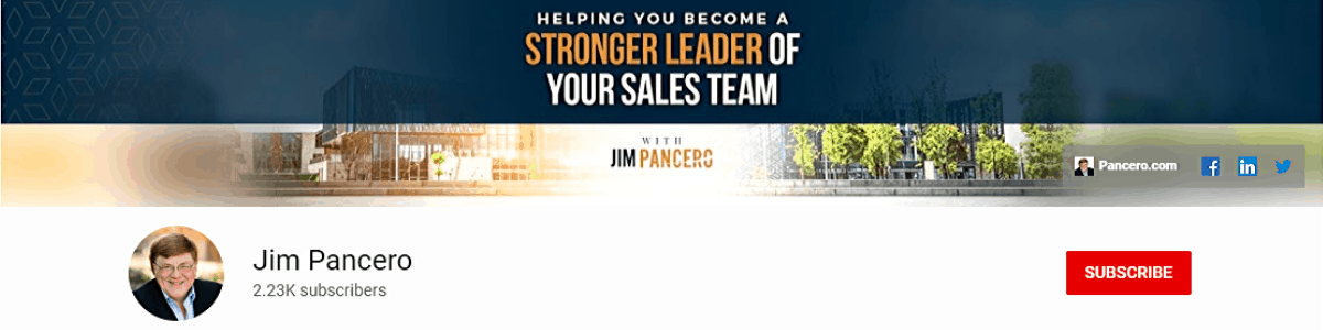 Jim Pancero Youtube Channel for sales