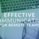 communication for remote employees